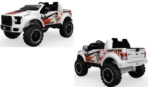 Battery Powered 12v Ride On Ford F150 Raptor Seats 2 Kids Electric