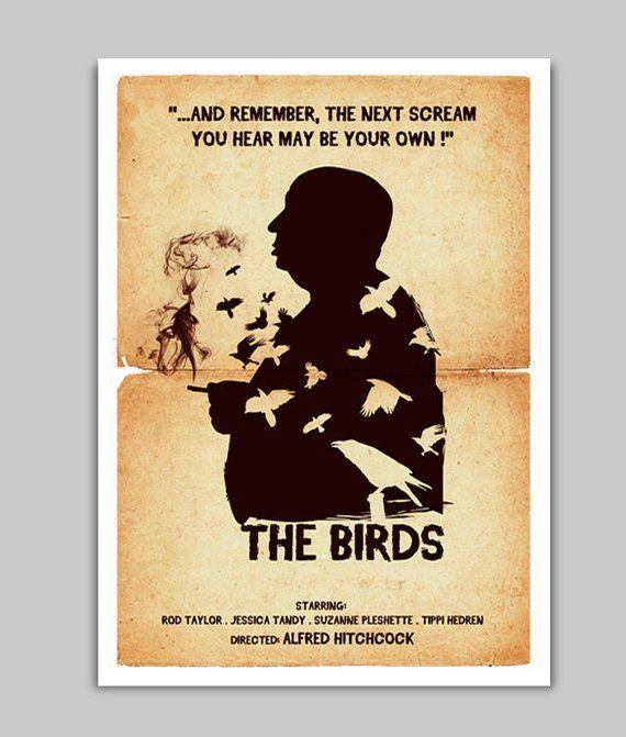 Alternative The Birds Movie Poster Art Digital Print