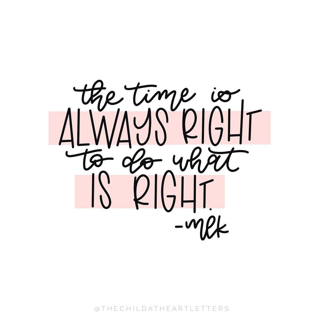 I would have LOVED to hear MLK preach and hearing his voice gives me goosebumps EVERY time. ��� . . #mlk #mlkday #martinlutherkingjr #martinlutherking #mlkjr #martinlutherkingquotes #preach #mlkquotes #martinlutherkingday #ihaveadream #martinlutherkingjrday #quote #dowhatsright #therightthing #inspirationalquotes #inspire #inspiration #faith #notafont #handlettering #lettering #ipadlettering #elpaso #eptx #elpasoproud #itsallgoodep #915