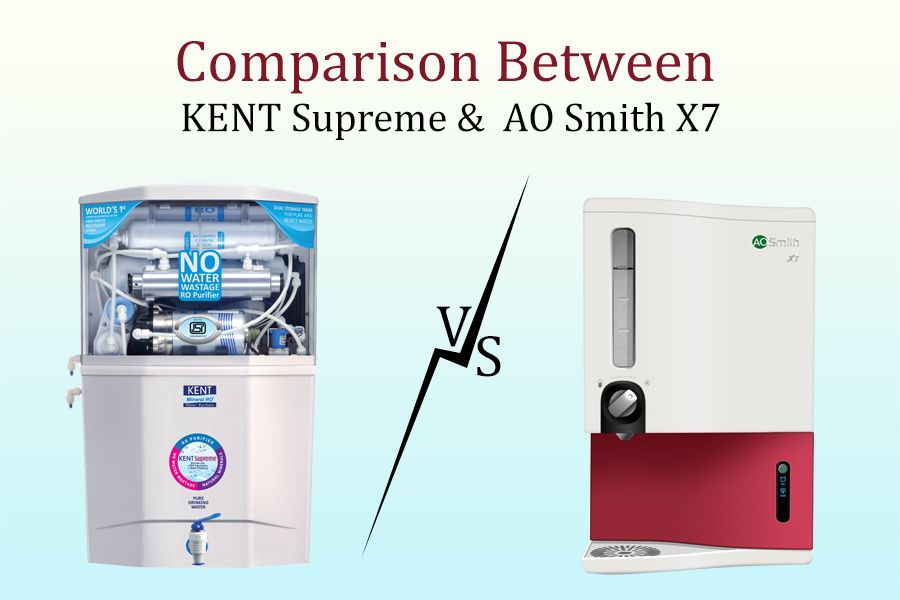 Water Purifier Comparison Kent Supreme Vs Ao Smith X7 Water