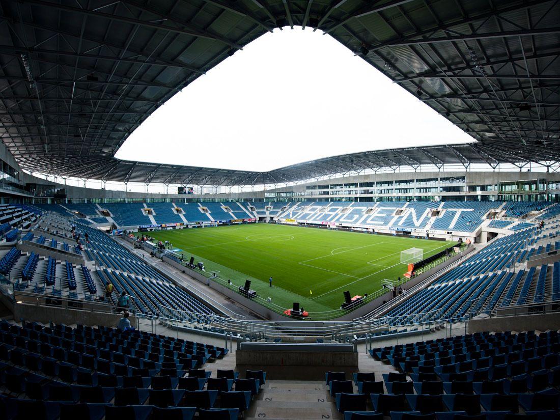 Interior Ghelamco Arena Gante Bélgica Capacidad 20000