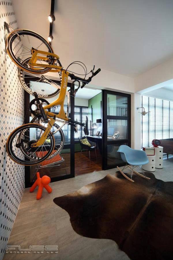 Ghim Moh Link Scandinavian HDB Interior Design Bicycle Hanger in