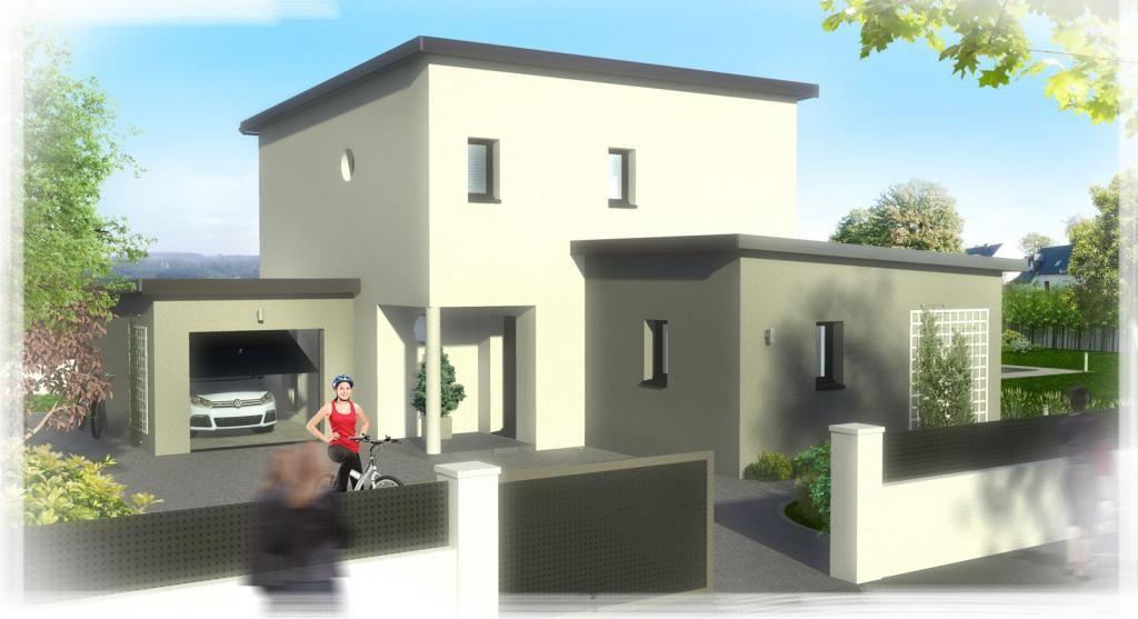 Votre maison design cassiopee de 117 m habitables toit for Devanture maison design