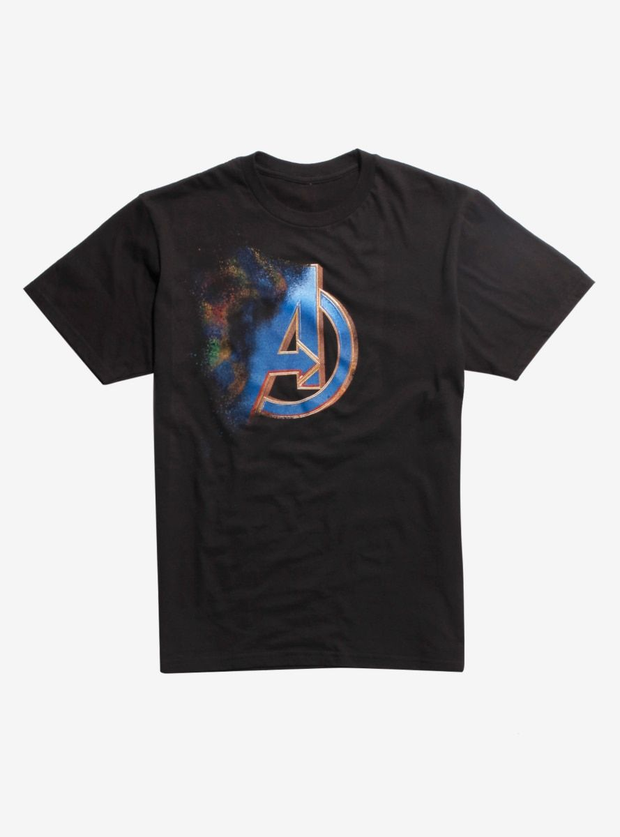 d2792c0d538 Marvel Avengers  Endgame Dust Logo T-Shirt Hot Topic Exclusive in ...