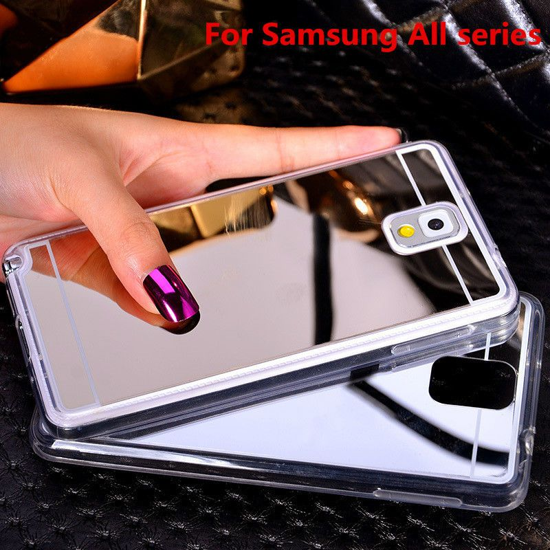 Plating Mirror Soft TPU Back Case Cover For Samsung Galaxy A5 A7 A510 A710 J5 J7 J510 J710 S3 S4 S5 S6 S7 Edge Phone Case