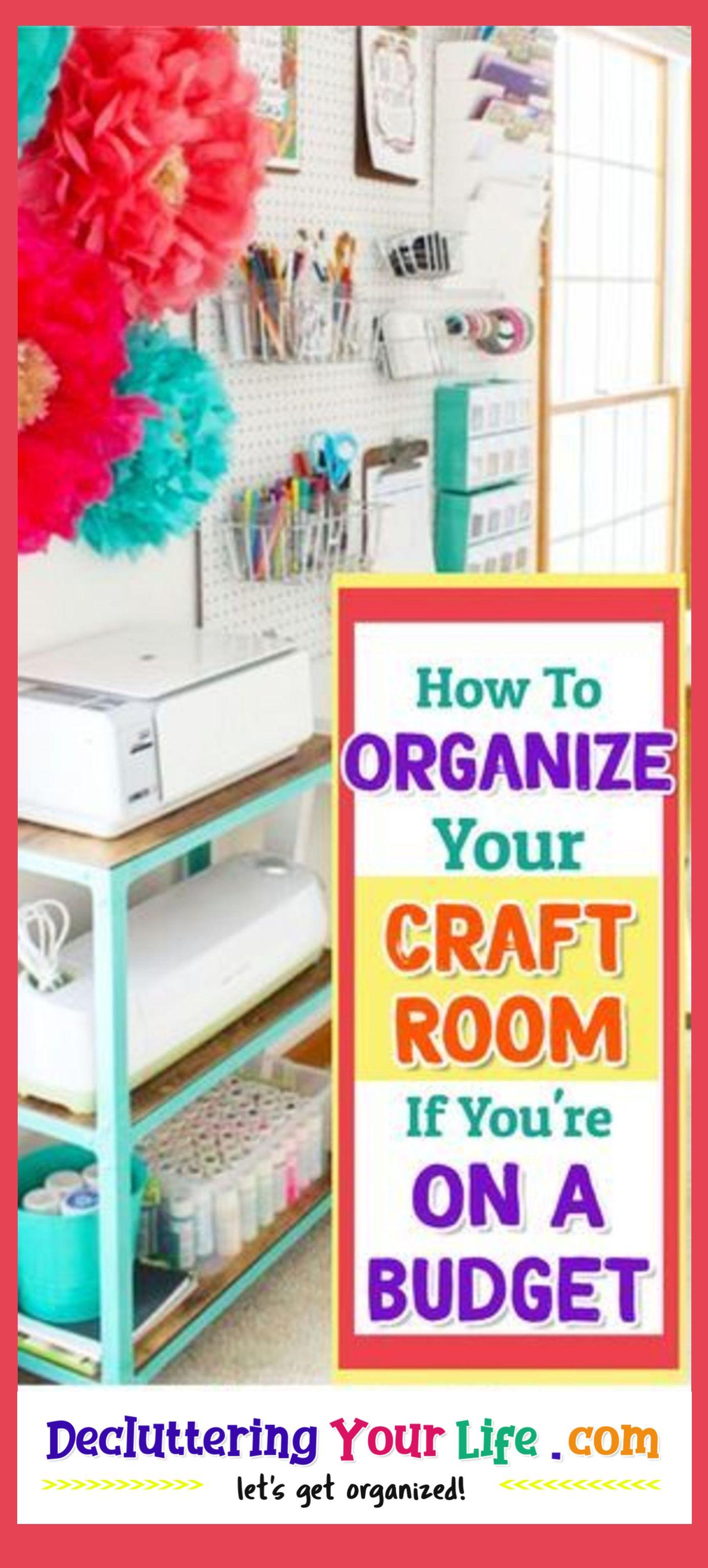 Declutter Challenge Week Craft Room Organizing Ideas Clever Diy Organization Hacks Fo In 2020 Craft Room Ideas On A Budget Craft Storage Diy Organize Craft Supplies