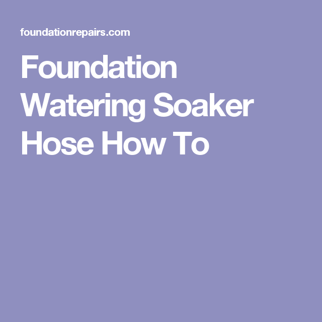 Foundation Watering Soaker Hose Tips
