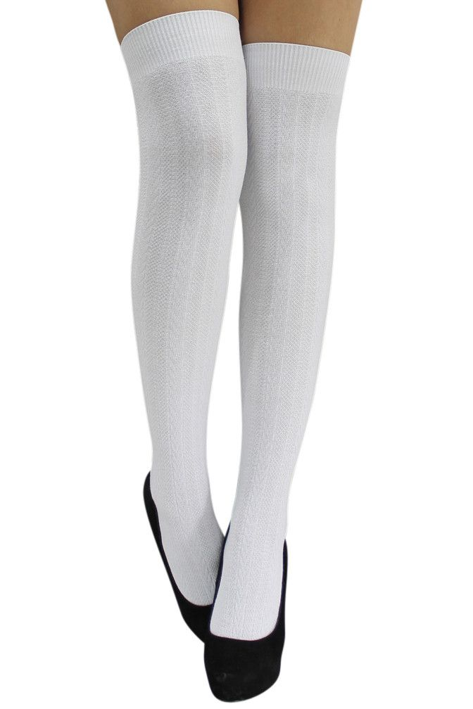 f9a8ed980bb Cable Knit Over The Knee-High Socks