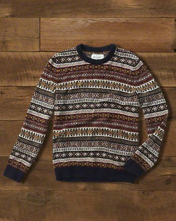 A&F Gift Guide // Mens Fairisle Sweater // abercrombie.com ...