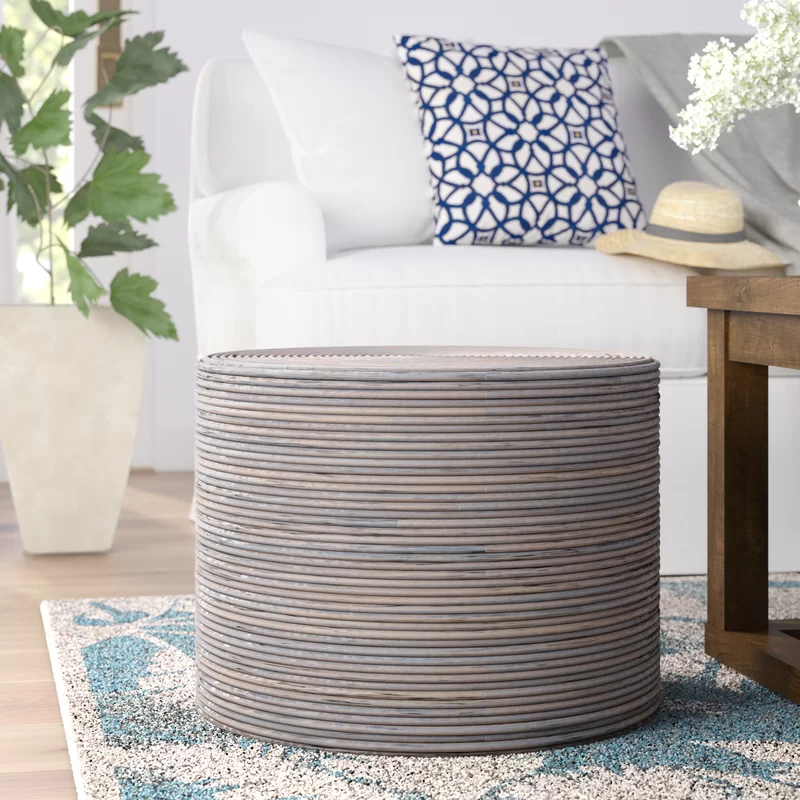Dayna Pouf With Images Ottoman Decor Round Ottoman Furniture