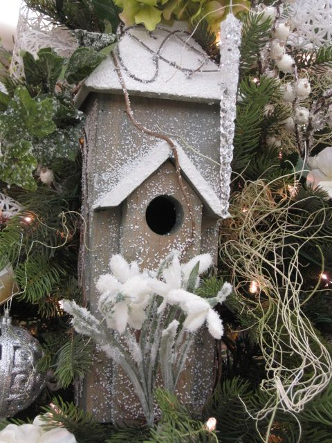 birdhouse ornament from the winter gardens theme at your