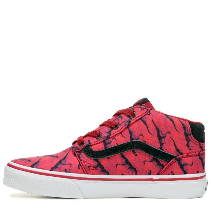 f8f34c250b Vans Kids  Chapman High Top Sneaker Pre Grade School Shoes (Digi Rex Red) -  11.0 M