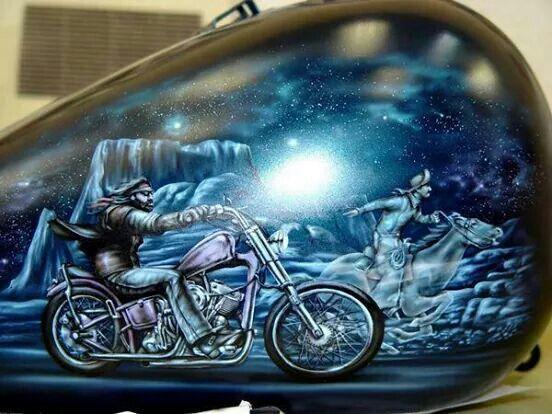 Steel Horse Custom Paint Motorcycle Motorcycle Art Painting Custom Motorcycle Paint Jobs