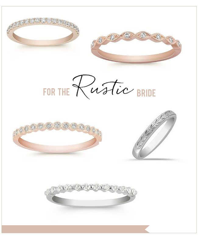 Rustic Wedding Rings From Shane Co. Customize Your Ring With Your Choice Of  Diamond, Ruby Or Sapphire Center Stone.