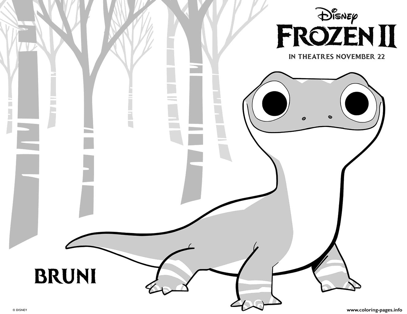 Print Disney Frozen 2 Bruni Salamander Coloring Pages Frozen Coloring Frozen Coloring Pages Disney Coloring Pages