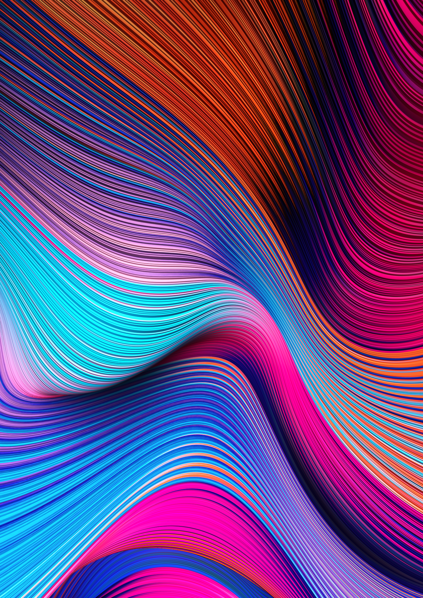 Gradient Flow Lines on Behance in 2020 Abstract, Phone