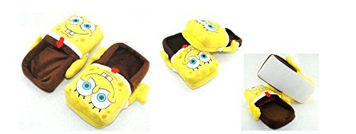 "#Spongebob Plush Slipper Adult Size fit up to 10.5"" Long"