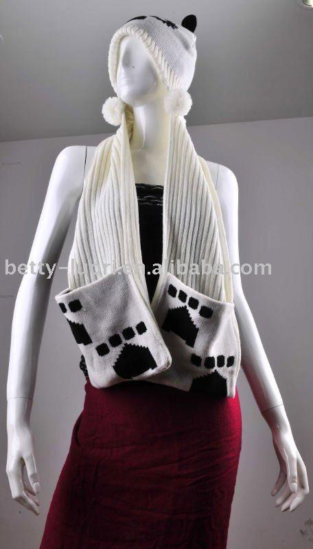 señoras bufanda con capucha con bolsillos   chalinas, gorras ...