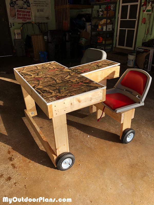 DIY Double Shooting Bench Shooting bench, Shooting table