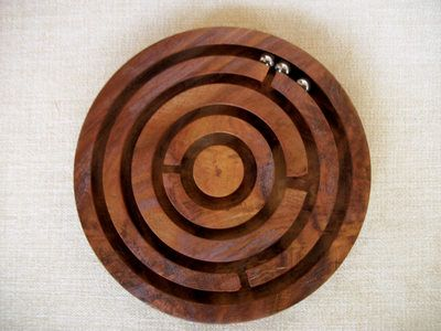 Handmade Handcrafted Hand Carved Wooden Maze Game 1
