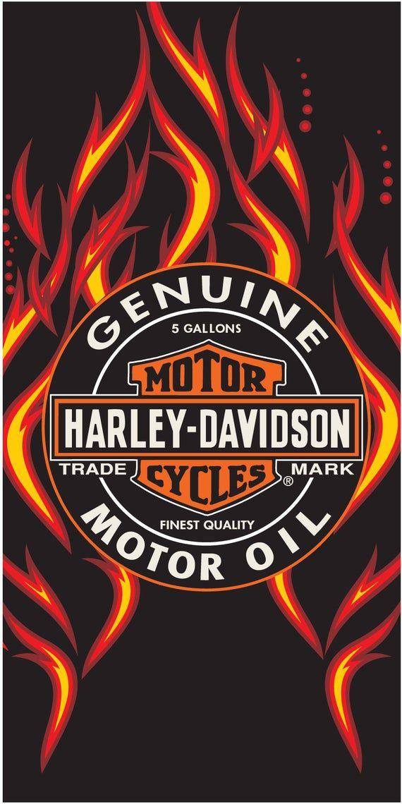 Harley Davidson Fire Oil Beach Towel 30x60 Harley Davidson Harley Davidson Oil Harley Davidson Wallpaper