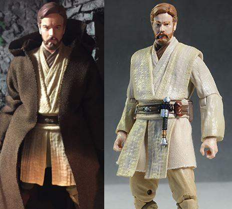 Obi Wan Kenobi Star Wars Black Series Action Figure Custom Repaint Before And After Star Wars Black Series Black Series Obi Wan