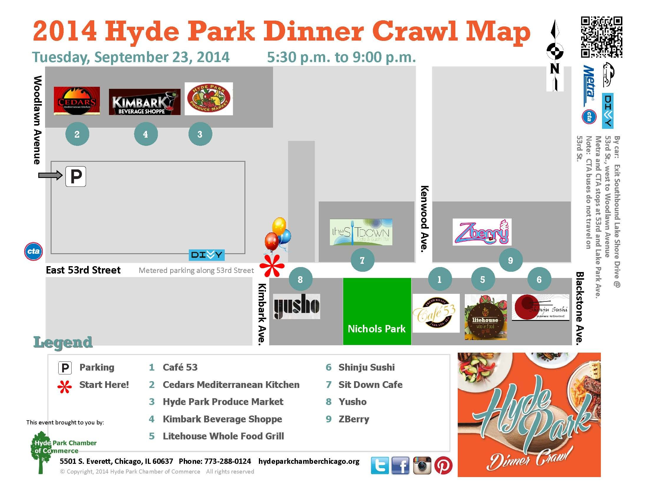 Hyde park dinner crawl map hydepark hydeparkchicago
