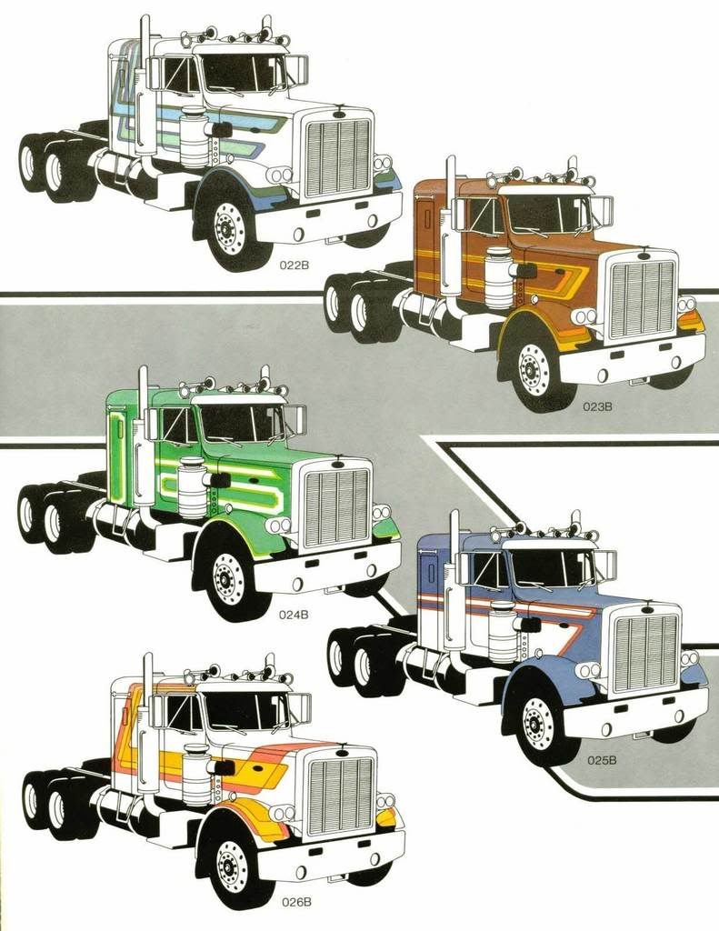 Paint Schemes Striping Patterns For Various Trucks The Truckstop