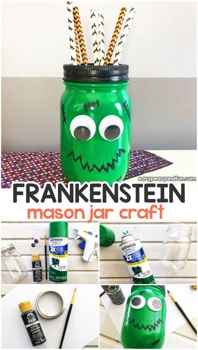 15+ Mason jar crafts for halloween ideas