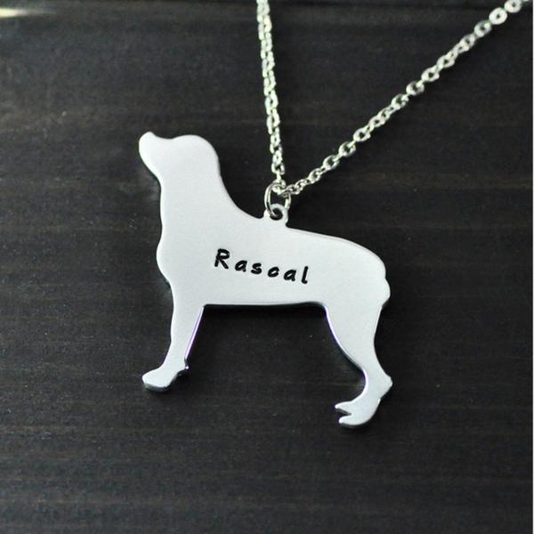 Personalized Dog Pendant Necklace