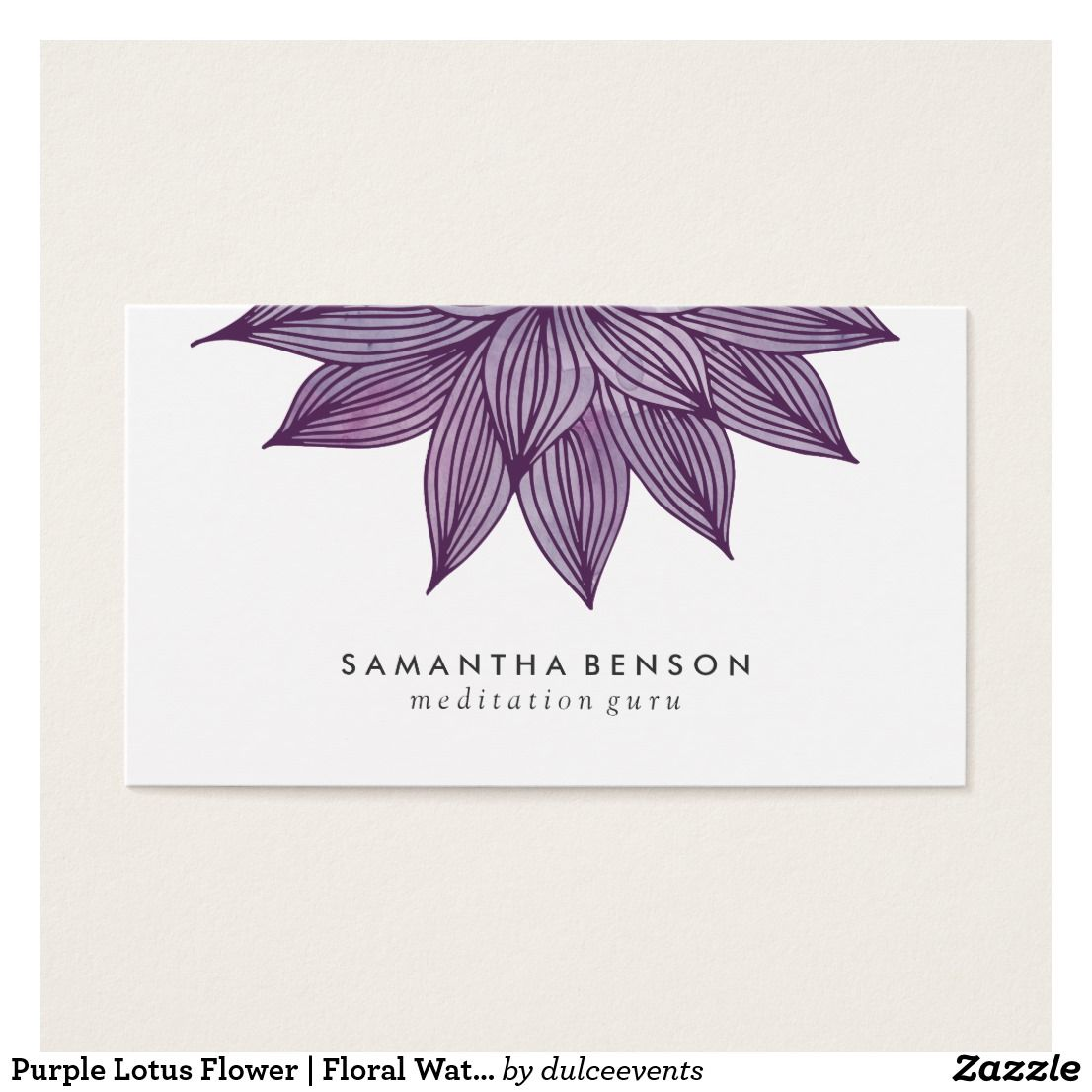 Purple Lotus Flower | Floral Watercolor | Custom Yoga Instructor ...