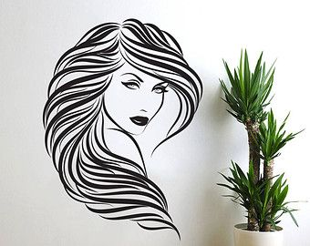 Salon Wall Art painted canvas sign - hairstylist home decor - hairdresser - hair