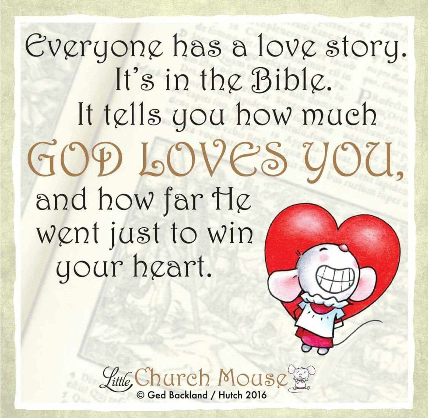 Everyone Has A Love Story. It's In The Bible. It Tells You