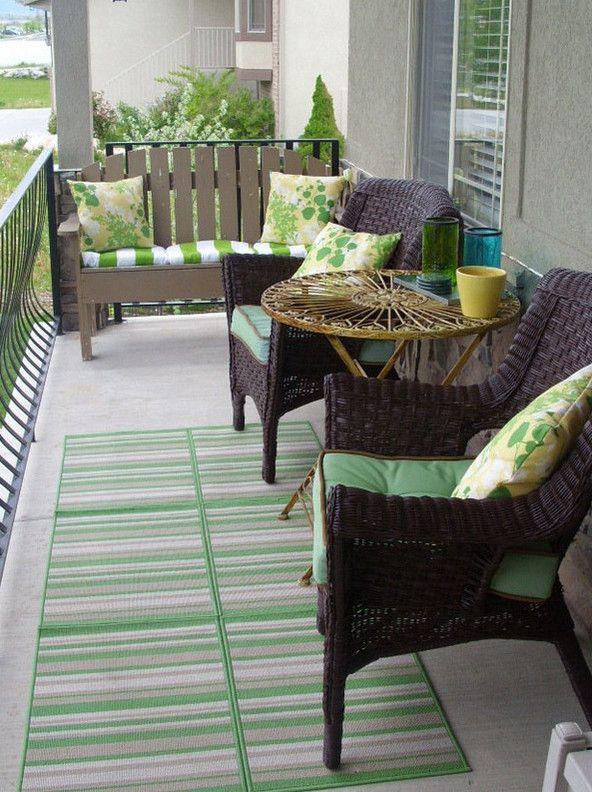 apartment balcony furniture | 3 | Pinterest | Porch, Front ...