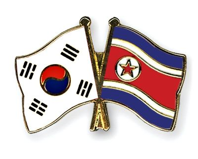 The Above Illustration Shows A Crossed Flag Pin With The South Korea Flag On The Left And The Icelandic Flag On T North Korea Flag South Korea Flag North Korea