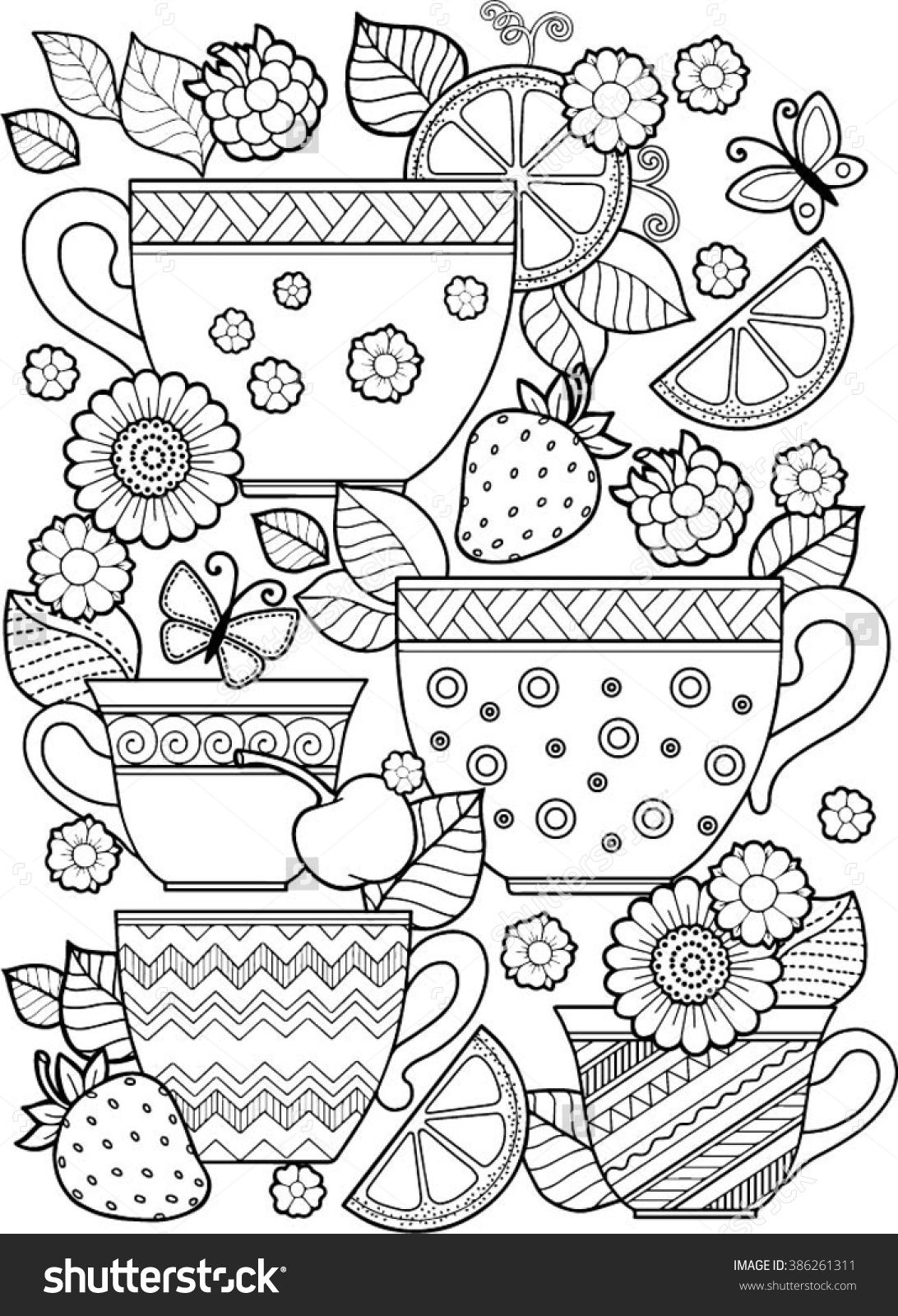 Best Cute Coloring Pages Ideas On Pinterest Tea Cup Pic Printible For Adults Watermelon. Best ...