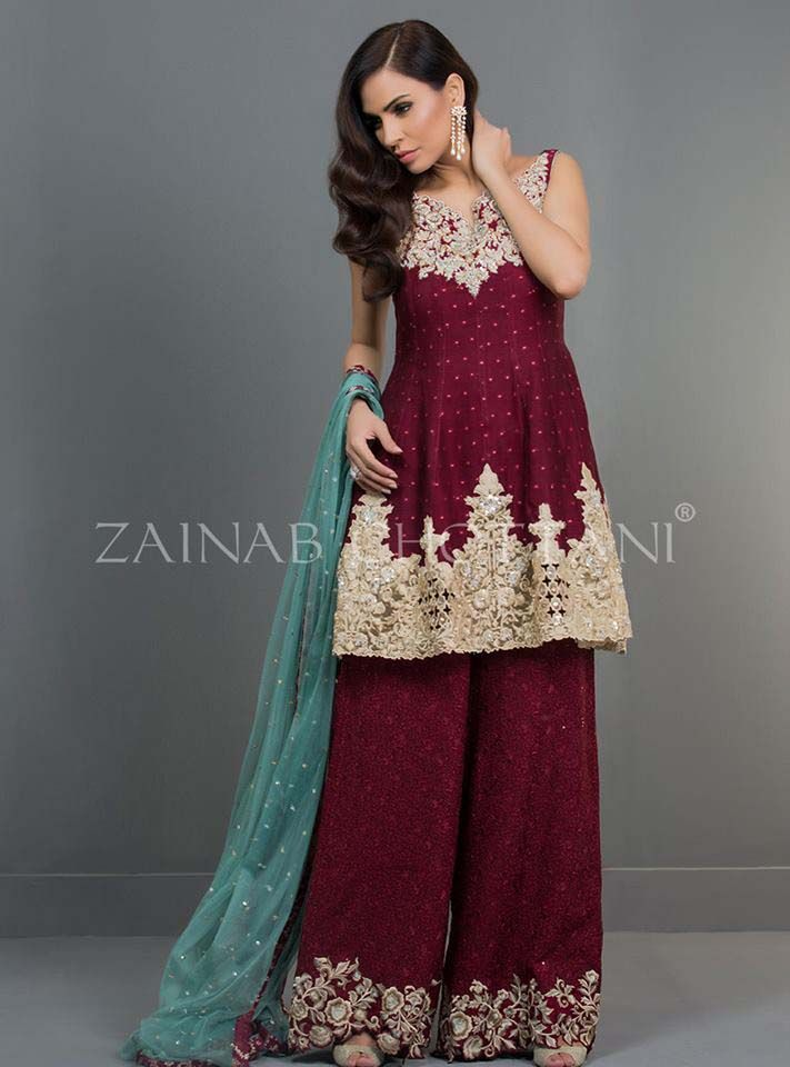 04af937296e1 dressy culottes for women | Zainab Chottani Formal Eid Dresses Collection  2017-18 for Women