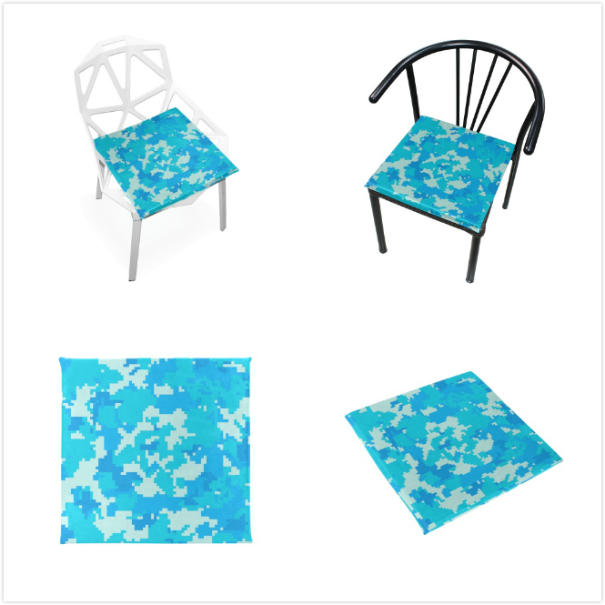 Cushion Blue Camouflage Cushions Soft Chair Pad Nonslip Chair Pads Cushions Home Decor For Patio Furniture Dining Room 16 X 16