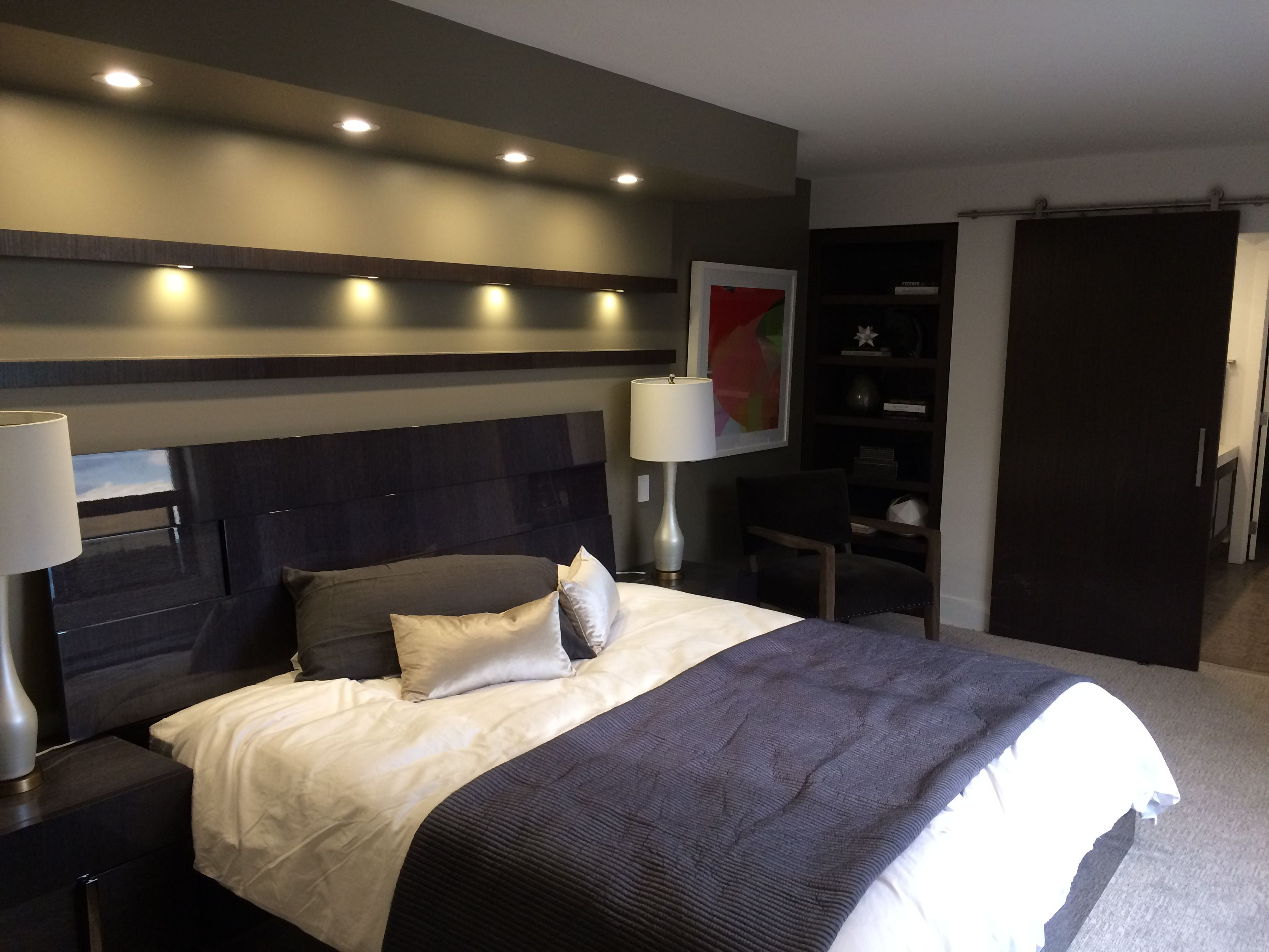 Master Suite Remodel Bulkheads With Led Lighting Barn Doors With