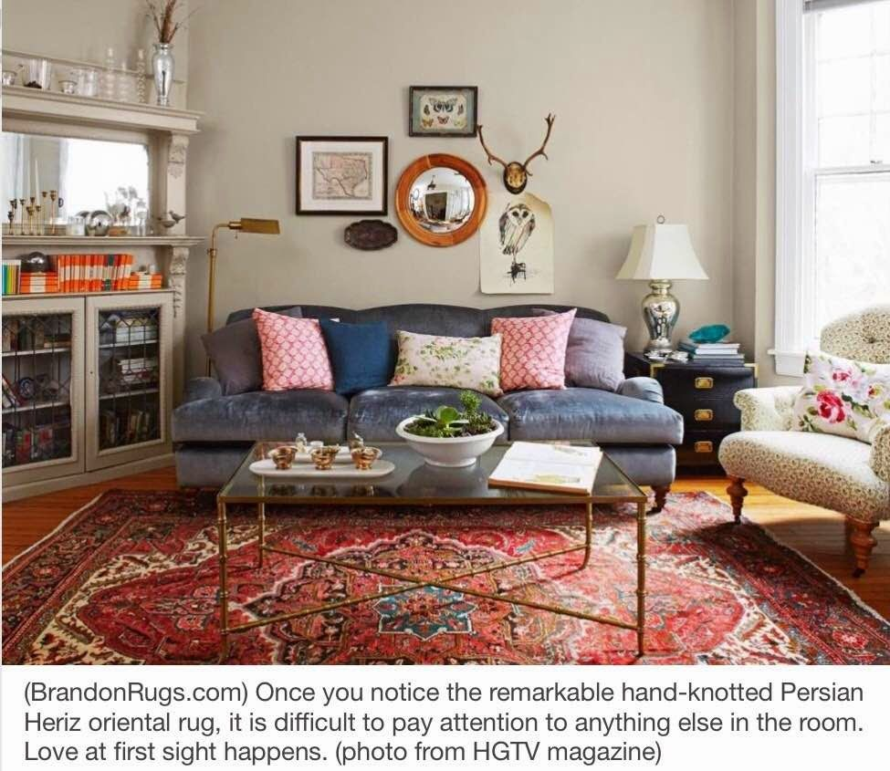 Brandon oriental rugs more home decor ideas using real for Living room rug ideas
