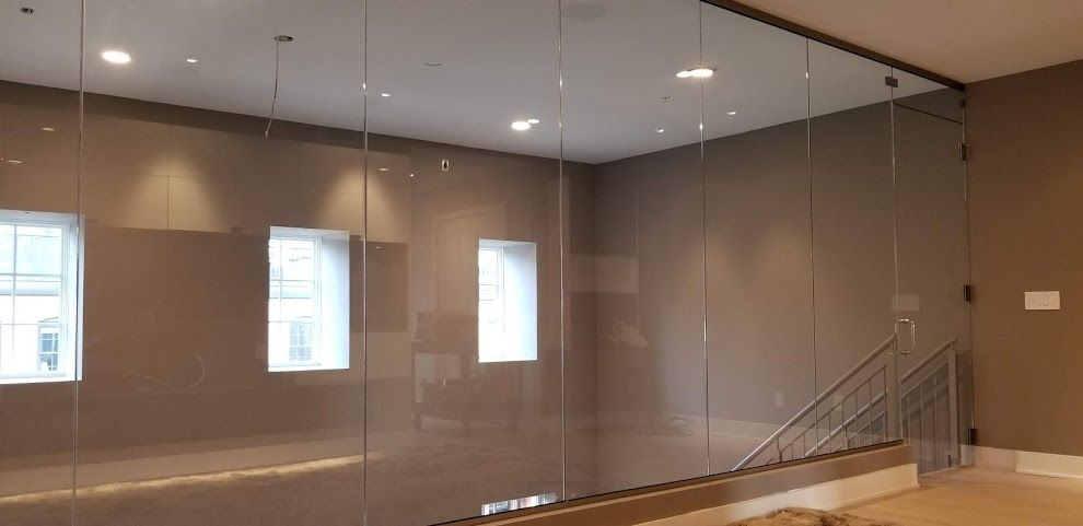 modern frameless shower doors