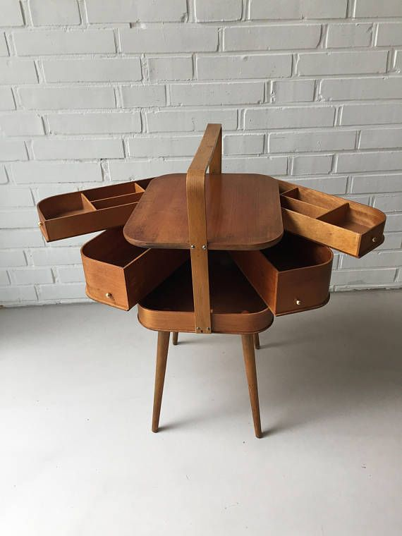 Reserved For Julia Vintage Nahkasten Tisch Teak Beistelltisch Mid Century Nahkasten Antik Vintage Interior Teak Denmark With Images Vintage Sewing Box Vintage Sewing Sewing Box