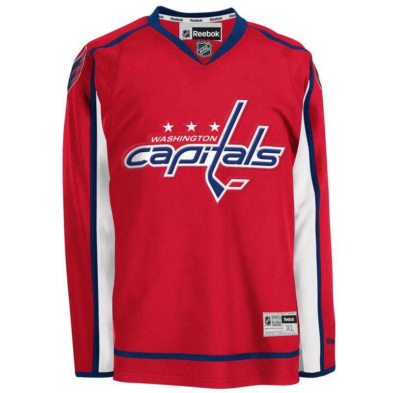 quality design 256cf 4fe42 Reebok Washington Capitals Mens Premier Home Jersey - Red ...