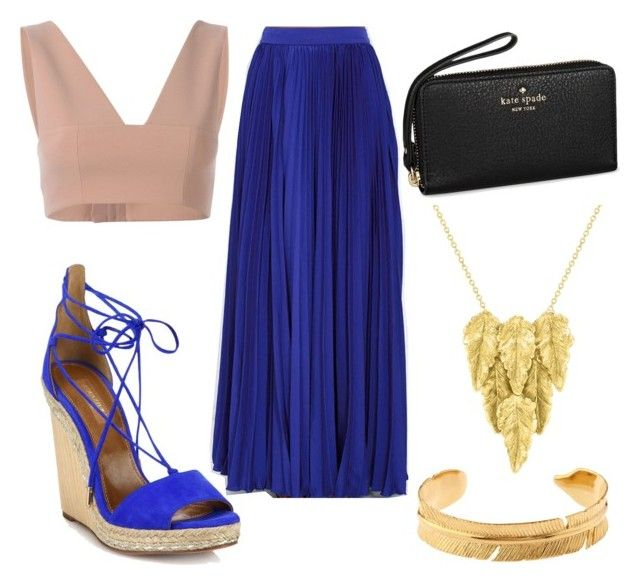 """""""Untitled #154"""" by isadora-beraldin on Polyvore featuring T By Alexander Wang, Olivaceous, Aquazzura, Kate Spade, London Road, Marte Frisnes, women's clothing, women, female and woman"""