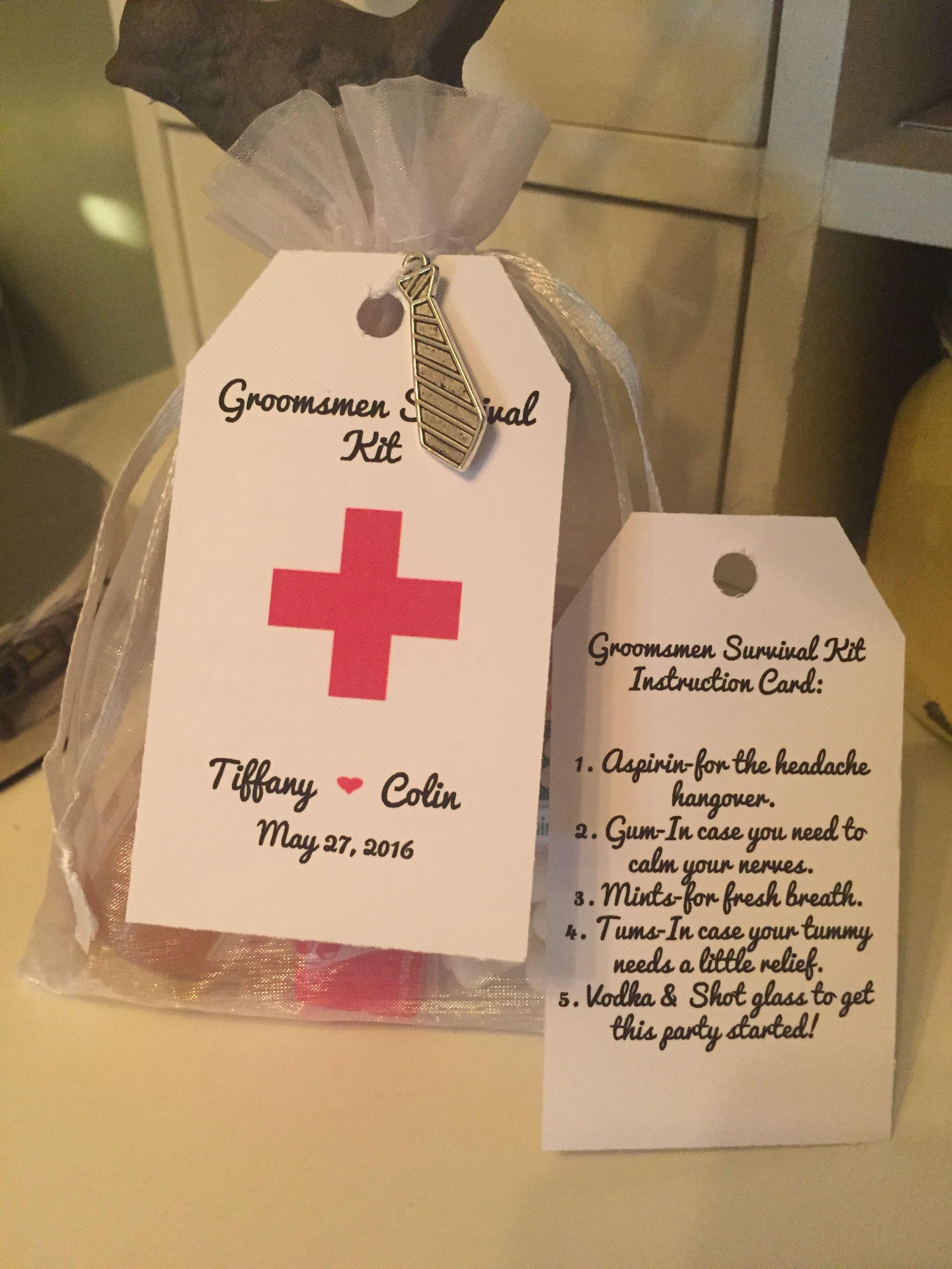 Groomsmen Survival Kit Favors4love