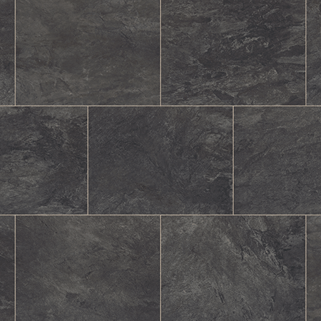 Natural Dark Stone Effect Vinyl Flooring Tiles Planks