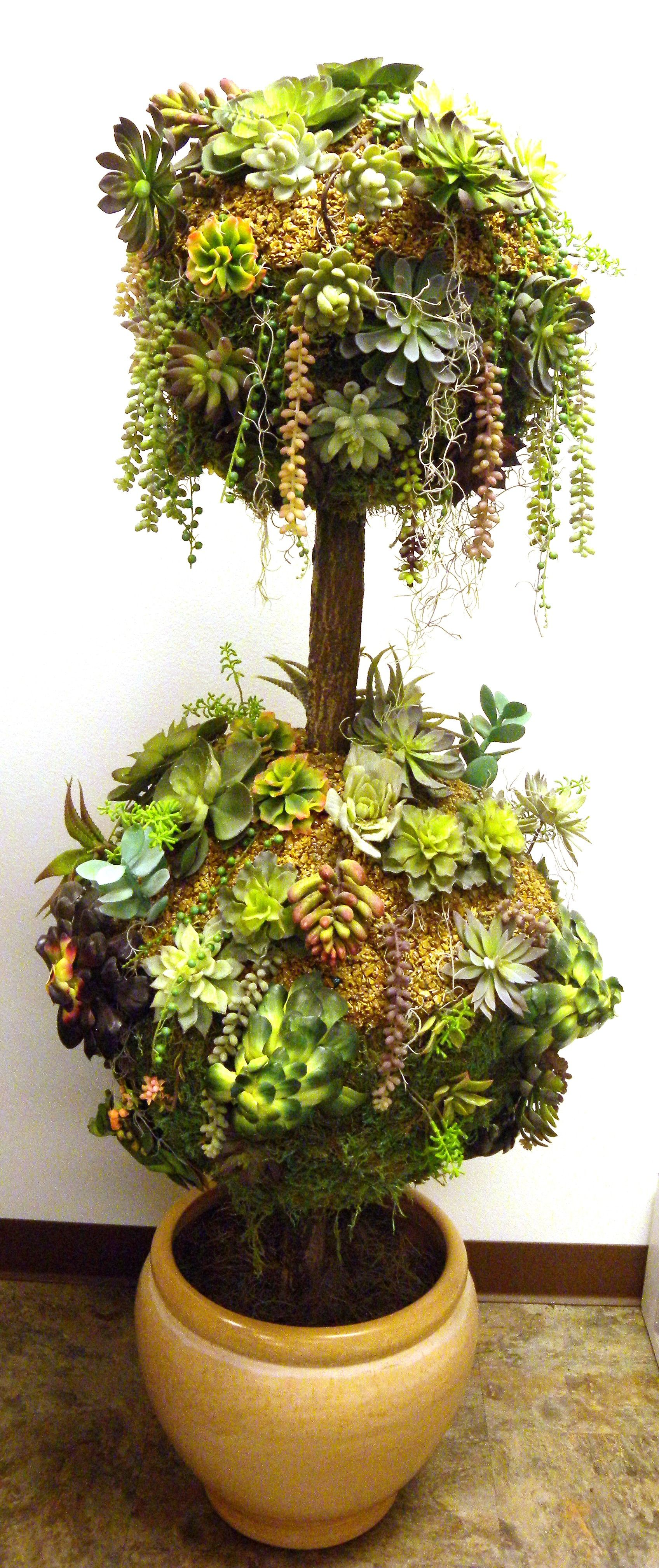 Beautiful Faux Succulent Topiary by International