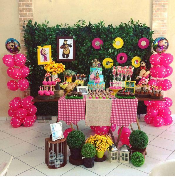 30 Ideias Para Festa Masha E O Urso Aniversário Maria 2anos