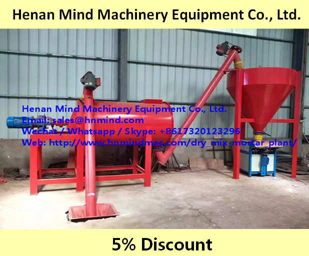 Waterproof Wall Putty Mix Plant Dry Mortar Production Line Paint Mixer Mortar Skim Coating