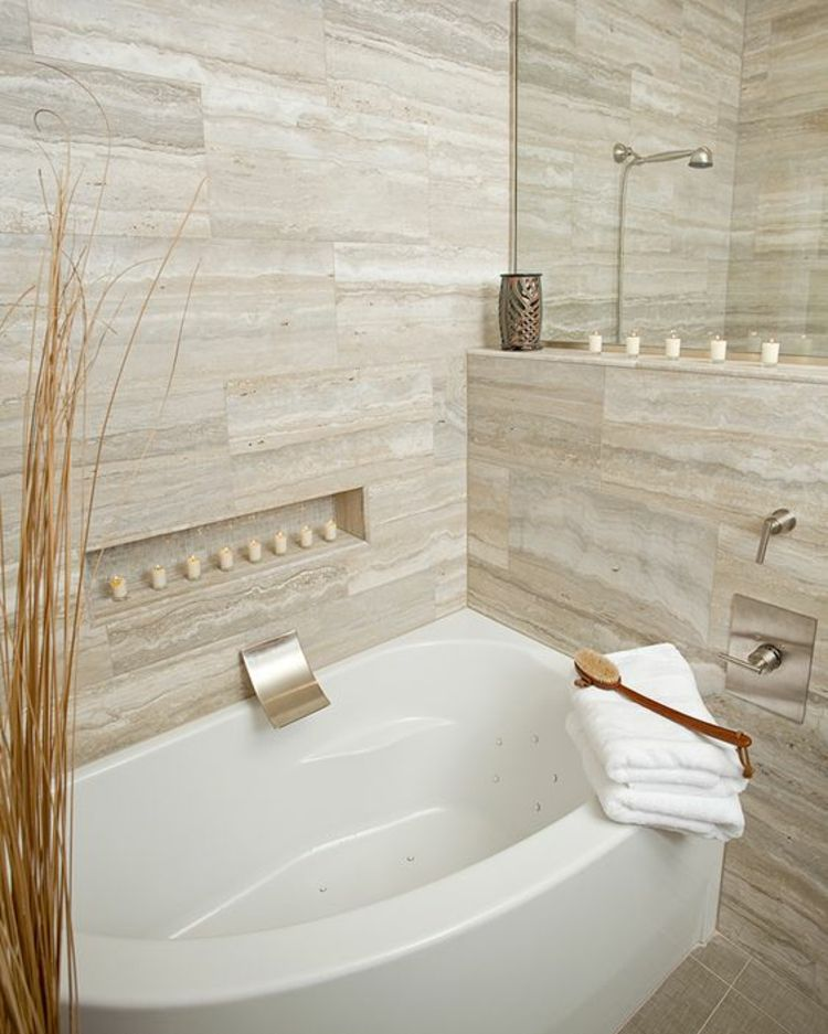 Badezimmerfliesen Travertin Moderne Badezimmer Fliesen